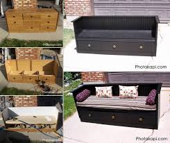 furniture repurpose. creative ideas how to diy repurpose an old dresser into a bench furniture