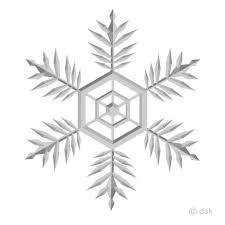 雪の結晶の無料イラスト素材イラストイメージ