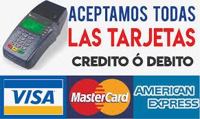 Resultado de imagen para aceptamos tarjetas de credito