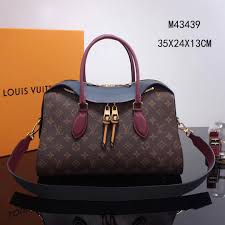 replica lv louis vuitton m43439 tuileries handbag monogram leather bag navy