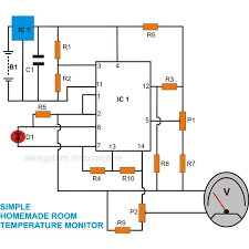 how to make a versatile room temperature monitor circuit at home Digital Temperature Controller Circuit Diagram room temperature monitor, circuit diagram, digital temperature controller using thermocouple circuit diagram