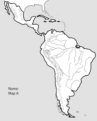 Free Blank Map Of North And South America Latin 17 At Physical Quiz