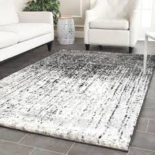 white area rug living room. Captivating Gray And White Area Rug For Indoor Floor Decor: Dark Living Room F