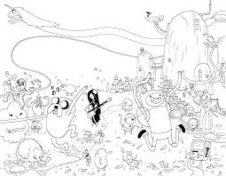 Free Printable Regular Show Coloring Pages Adventure Time Characters