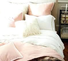 pottery barn linen duvet bedding clearance velvet pick stitch quilt sham belgian flax sheet set reviews