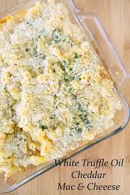 white truffle oil cheddar mac and