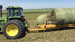 Round Bale Mover Pickup Truck