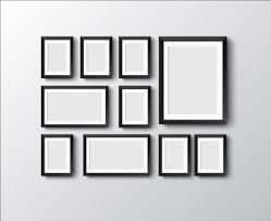 black picture frames. Black Photo Frame On Wall Vector Graphic 03 Picture Frames P