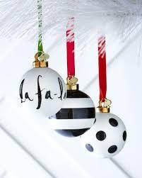 Kate Spade New York Black White Christmas Ornaments