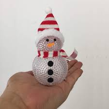 Holiday Time Light Up Led Fluffy Snowman Instructions Led Snow Men Christmas Ornaments Diy Home Party Festival Decoration Wreaths Christmas Decor Animated Snowman Christmas Lights Christmas Snowman Toy