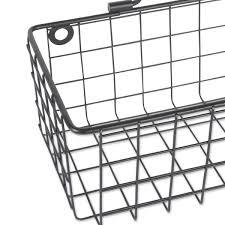 wire wall basket set of 2 medium black