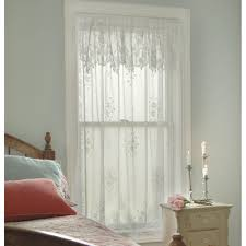 Lace Window Treatments Tea Rose Lace Curtains By Heritage Lace Bedbathhomecom