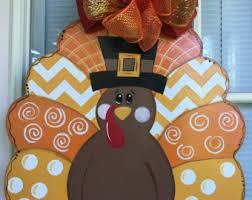 thanksgiving front door decorationsTurkey door hanger  Etsy