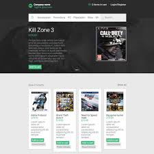 website template video ecommerce video games responsive website template