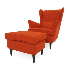 off ikea wing chair and footstool chairs furniture accent second hand ikea medium