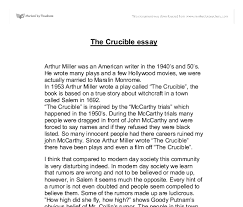 essay topics thesis crucible essay topics thesis