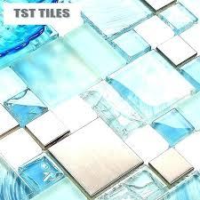 backsplash tile sea glass tile modern lot blue sea glass kitchen tiles bathroom mirror