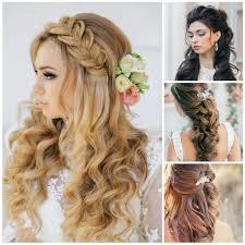 2019 Down Hairdos For Medium Hair Wedding Half Up Half Down