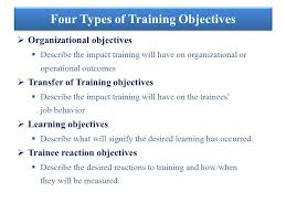 On Job Training Objectives Training Objectives Ppt Video Online Download