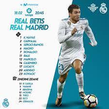 Real Betis 3-5 Real Madrid Player Ratings – RMadrid37