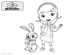 Doc Mcstuffins Coloring Pages Rabbit And Dottie Free Printable