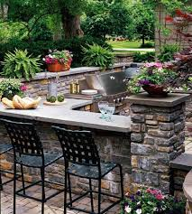 outdoor bar with built in grill