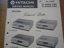 hitachi vintage video and vcr hitachi vt 8000e vt 8500e vcr video cassette deck service manual wiring diagram