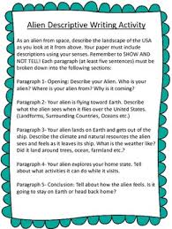 alien descriptive writing prompt by bethany hunter tpt alien descriptive writing prompt
