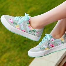 <b>women casual shoes</b> beautiful <b>printed</b> floral <b>canvas shoes</b> rubber ...
