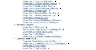 NaNoWriMo YWP: Middle School (6-8) Curriculum - Google Docs