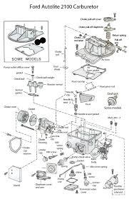 1966 autolite 2100 carburetor 2100 carburetor exploded view