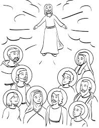 Communion Of Saints Coloring Page Catholic Coloring Pages For Kids