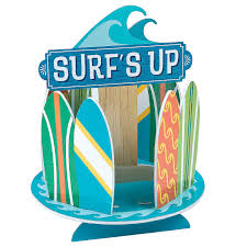 surf s up birthday centerpiece