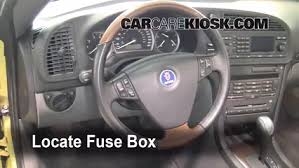 interior fuse box location 2003 2007 saab 9 3 2004 saab 9 3 arc interior fuse box location 2003 2007 saab 9 3 2004 saab 9 3 arc 2 0l 4 cyl turbo convertible 2 door