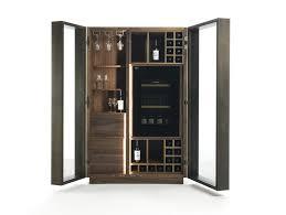 riva 1920 cambusa glass solid wood bar cabinet
