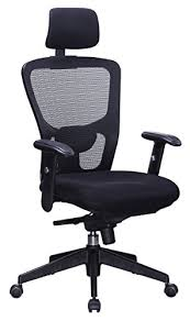 adjustable lumbar support office chair. office factor executive managers high back black mesh chair adjustable height lumbar support h