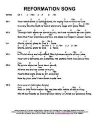 Reformation Song Chart Sovereign Grace Music