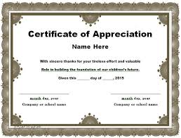 Certificate Of Appreciation Template For Word Interesting Certificate Of Appreciation Template Business Mentor