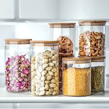Decorative Glass Storage Jars 100ML Heat resistant glass Jars For Storage Container For Tea 50
