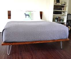Platform Bed And Headboard Queen Size On Hairpin Legs Minimal 10 Lovely  Frame For Sale