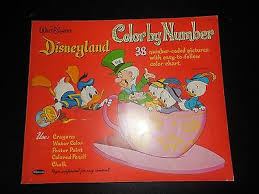 Printable coloring pages for kids. Disneyland Color By Number 1964 Disney Coloring Book Whitman Has Coloring Ebay