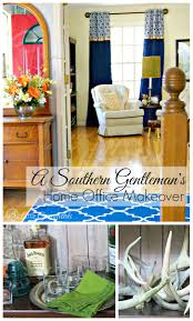 home office makeover ideas. Fabulous Southern Gentleman\u0027s Home Office Makeover! Decorating Ideas On A Budget By 3 Makeover