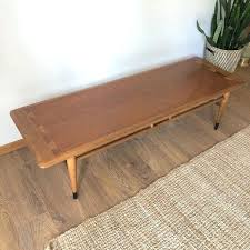 lane coffee table mid century walnut