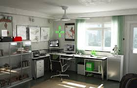 study room design ideas with white wall color and glass windows also curtain and l computer awesome home study room