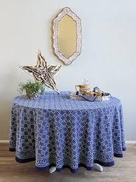 starry nights designer batik blue round india tablecloth