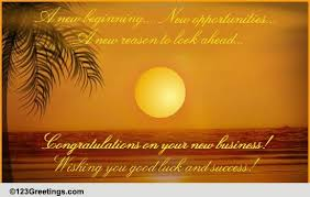 Congratulation For New Business A New Business Venture Free Congratulations Ecards Greeting Cards