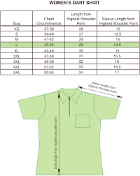 Shirt Neck Size Conversion Chart Size Charts For Products Projoy Sportswears And Apparel