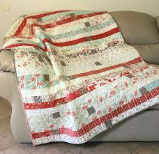138 best Quilts - Lap/Sofa/Throw images on Pinterest | Quilt block ... & Quilted Throw, Cottage Chic Lap Quilt in Coral Pink, Sea Glass Blue, Bisque Adamdwight.com