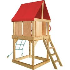 Cubby Houses   Outdoor Playhouses At Bunnings WarehouseCedar Shed Industries   x   x   m Elevated Multiplay Cubby House With Sandpit