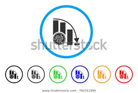 Iota Coin Crisis Chart Rounded Icon Stock Vector Royalty